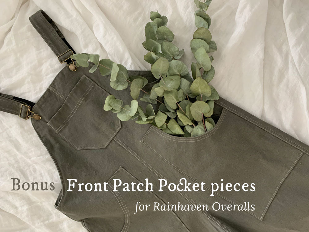 Bonus:  Front Patch Pockets for Adult Rainhaven Overalls