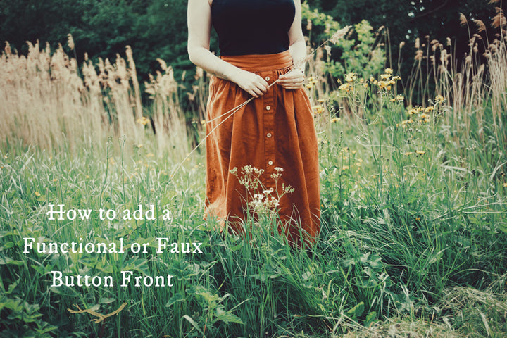 How to Add a Button Front to the Meadow Skirt - Functional + Faux Versions