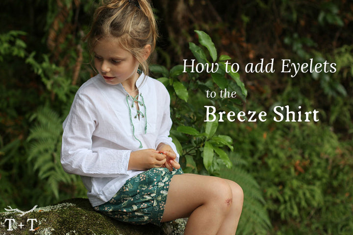 How to Add Eyelets to the Breeze Shirt