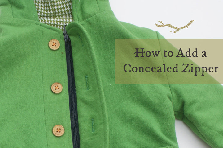 How to Add a Concealed Zipper to your Twig + Tale Coat or Vest