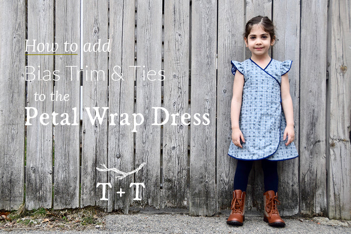 How to Add Bias Trim and Ties to the Petal Wrap Dress