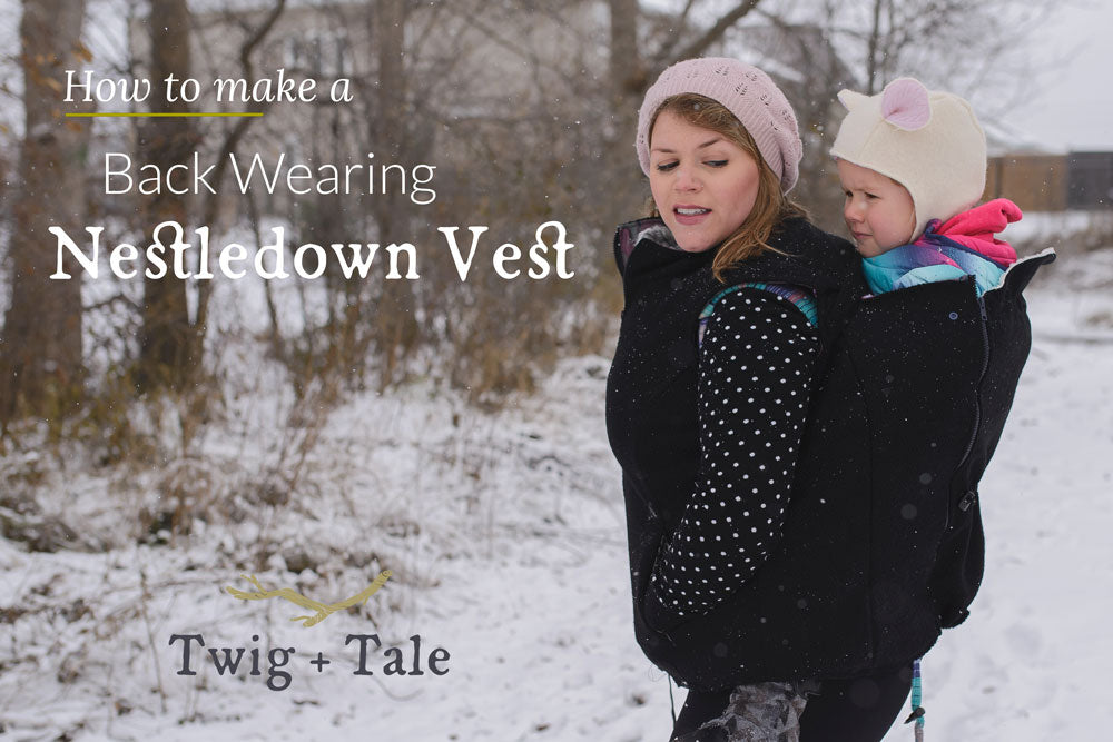 Convert the Nestledown Vest for Back Wearing