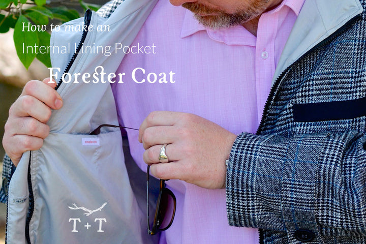 How to Add an Internal Lining Pocket to the Forester Coat
