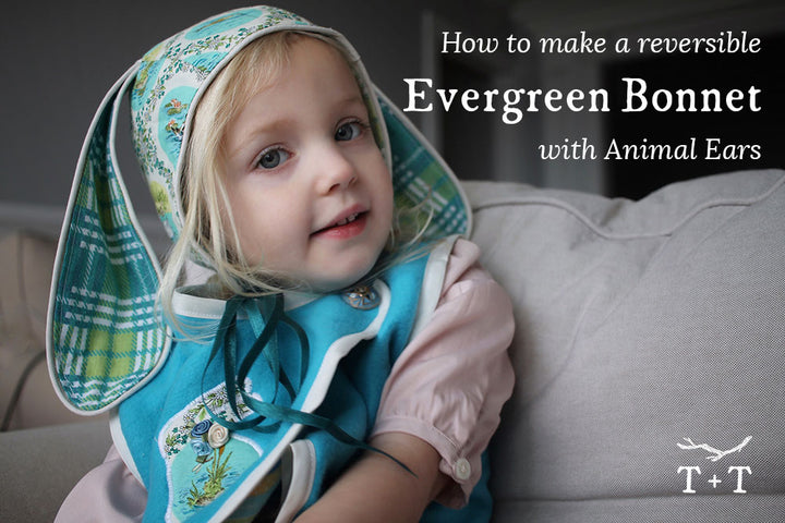 How to Make a Reversible Evergreen Bonnet with Animal Ears