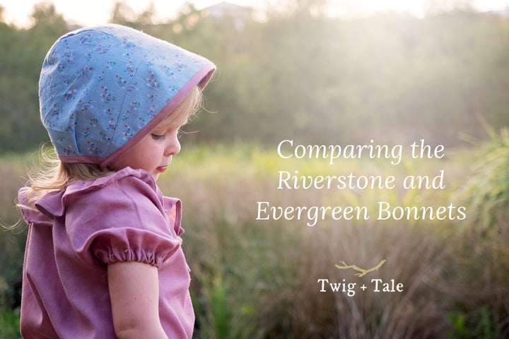 Comparing the Riverstone and Evergreen Bonnets + Using Them Together