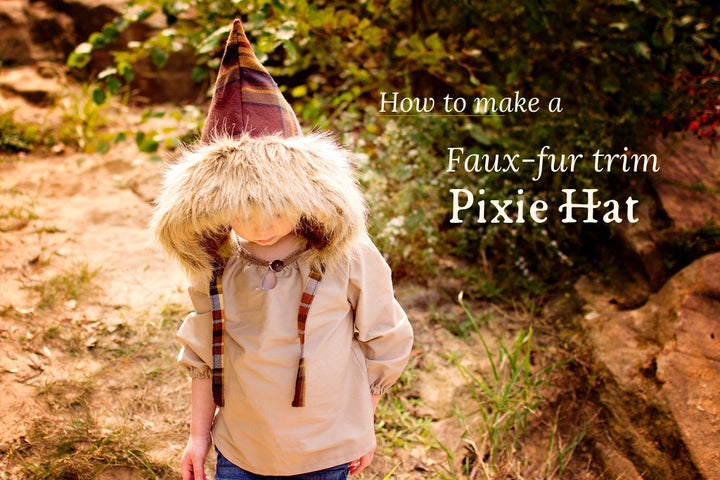 How to Add Faux Fur Trim to the Pixie Hat
