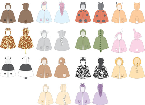 Animal Cape Sewing Pattern by Twig + Tale