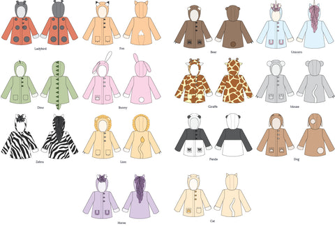 Animal Coat Sewing Pattern by Twig + Tale