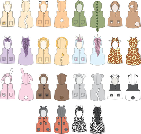 Animal Vest Sewing Pattern by Twig + Tale