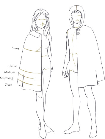 Adults Traveller Cape Sewing Pattern by Twig + Tale