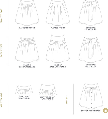 Meadow skirt for babies - pdf sewing pattern by Twig + Tale