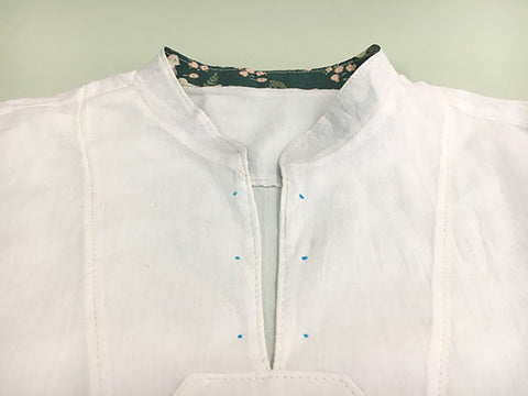 Breeze Shirt Sewing Pattern by Twig + Tale - How to add eyelets