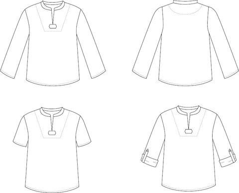 Breeze Shirt sewing pattern by Twig + Tale - View Diagrams