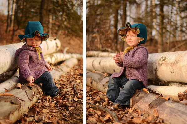 Ruffle Brim for Evergreen Bonnet by Twig + Tale