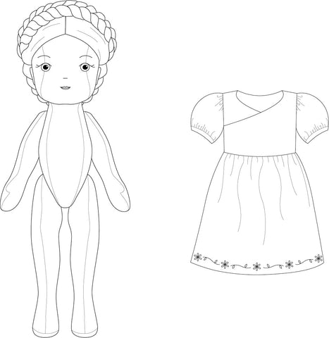 Twig + Tale Fleur Doll + Clothes View