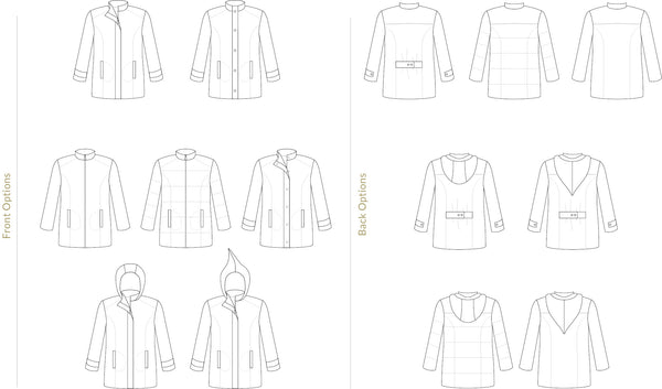 Men's Forester Coat Sewing Pattern by Twig + Tale