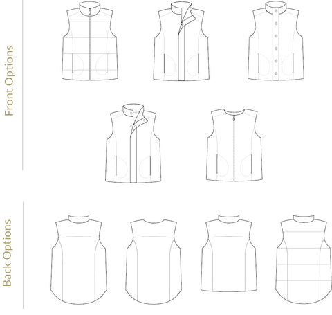 Men's Trailblazer Vest sewing pattern by Twig + Tale
