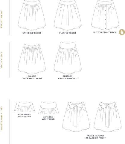 Children's Meadow Skirt sewing pattern by Twig + Tale