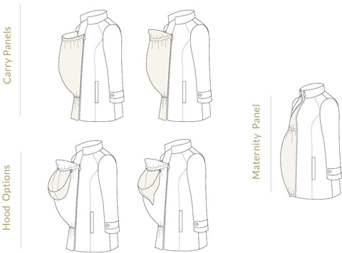 Nestledown Baby-Wearing Coat sewing pattern by Twig + Tale