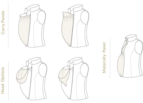 Nestledown Baby Carry Vest Sewing Pattern by Twig + Tale