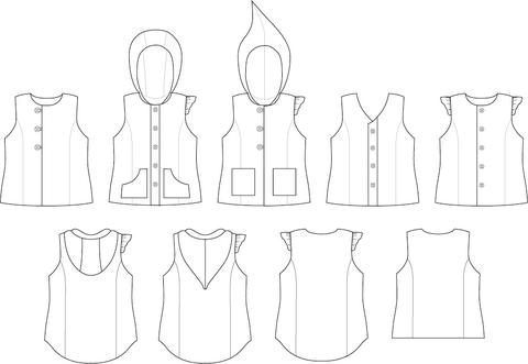 Womens Pathfinder Vest sewing pattern by Twig + Tale
