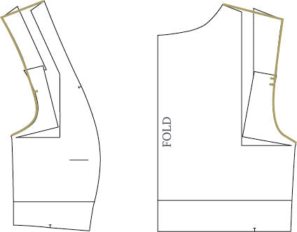 Board Shoulder Adjustment for Fable Dress by Twig + Tale