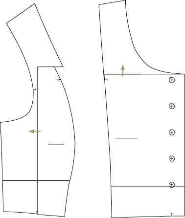 Small bust adjustment SBA for Fable Dress by Twig and Tale