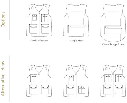 Fishermans Vest Pattern by Twig + Tale