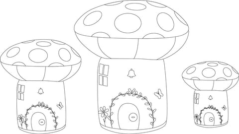 Toadstool Village View Illustrations