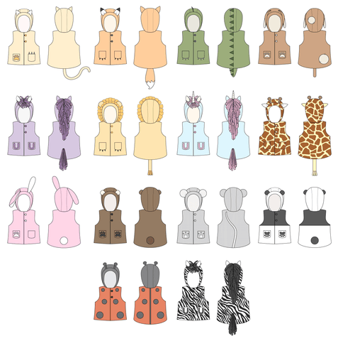 Women's Wild Things Vest sewing pattern by Twig + Tale