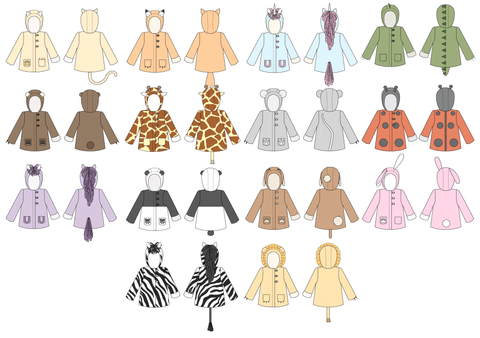 Twig + Tale Wild Things Coat Animal Views