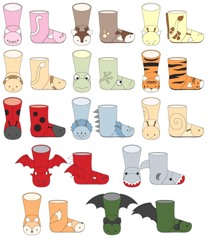Twig + Tale Wild Things Boots Illustrations