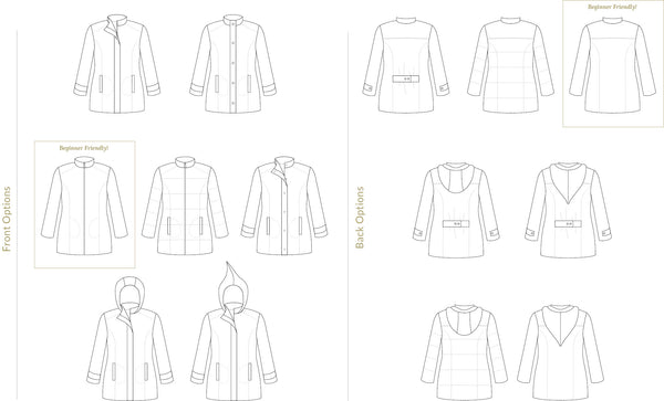 Women's Forester Coat Sewing Pattern by Twig + Tale