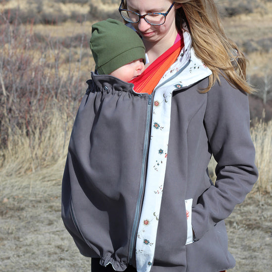 Nestledown Babywearing Coat for Women PDF sewing pattern by Twig + Tale 5