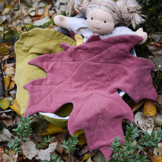 BUNDLE of Leaf Blanket + Doll Leaf Blanket ~ North American Collection