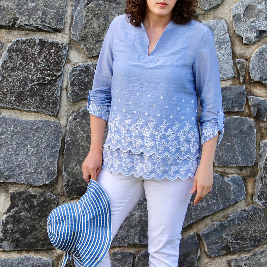 Breeze Shirt + Tunic - PDF Digital Sewing Pattern by Twig + Tale 12