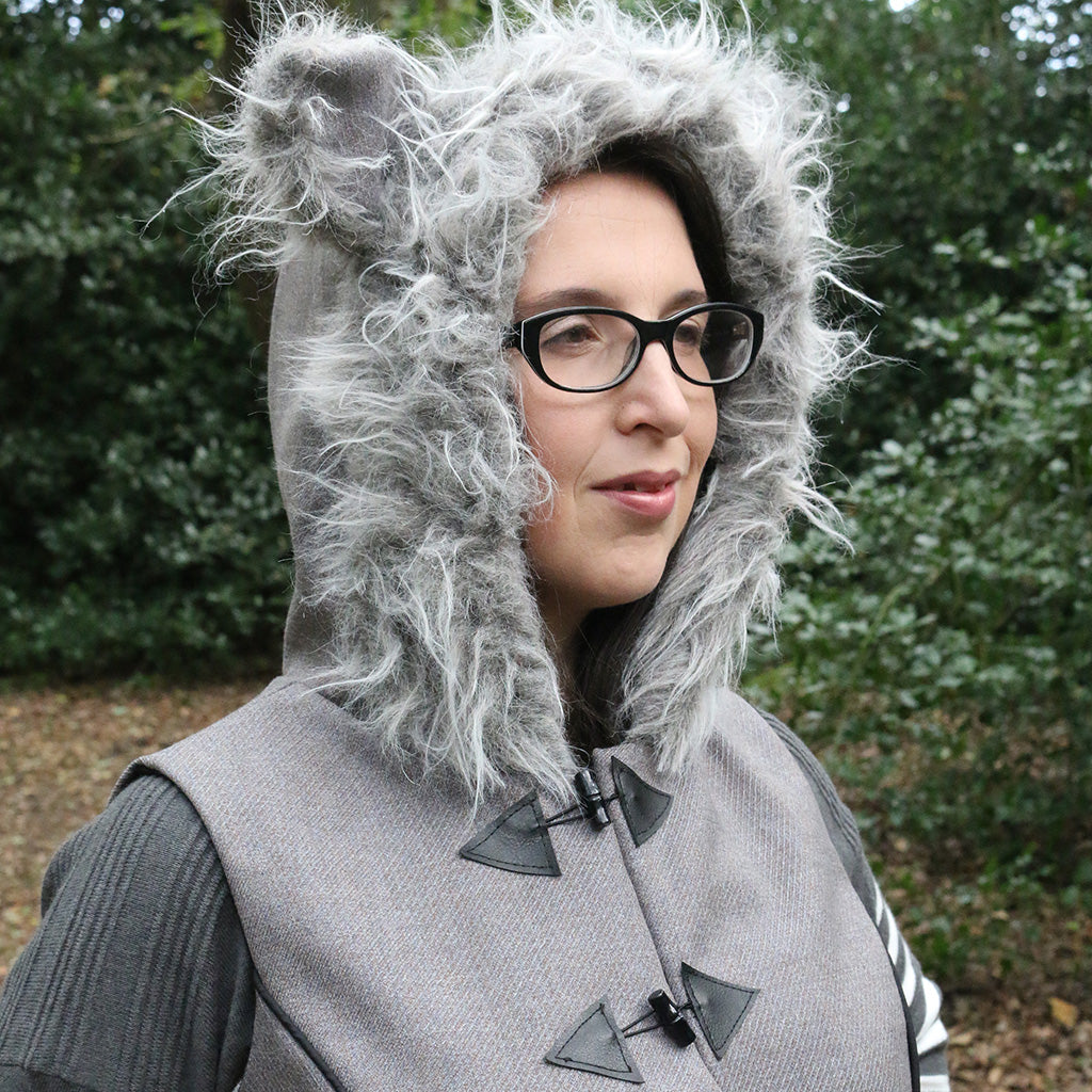 Women's Wolf Animal Vest PDF digital sewing pattern by Twig and Tale