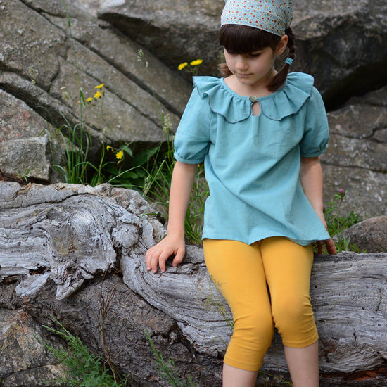 Driftwood Blouse + Dress PDF digital sewing pattern by Twig + Tale 12