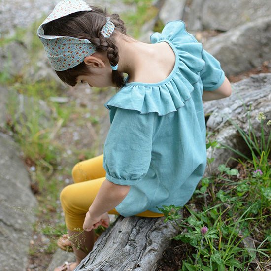 Baby driftwood blouse and dress - Twig and Tale - PDF digital sewing pattern 10