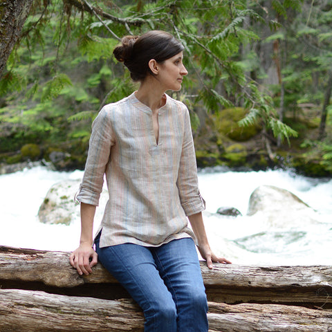 Adults - Breeze Shirt + Tunic - PDF Digital Sewing Pattern by Twig + Tale