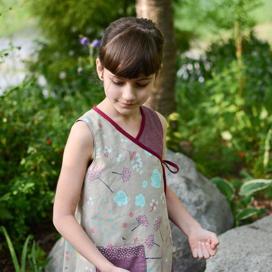 Petal Wrap Dress + Tunic digital sewing pattern by Twig and Tale 14