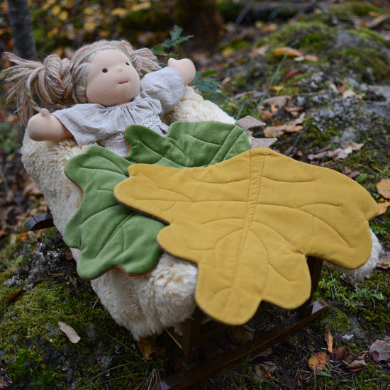 Hawthorn Leaf Doll Blanket digital PDF sewing pattern by Twig + Tale