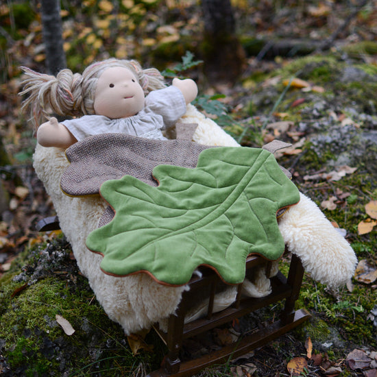 Oak Leaf Blanket for Dolls digital PDF sewing pattern by Twig + Tale