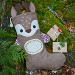reindeer christmas stocking sewing pattern by Twig + Tale