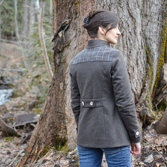 Women's Forester Coat - PDF digital sewing pattern by Twig + Tale 9