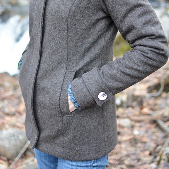 Women's Forester Coat - PDF digital sewing pattern by Twig + Tale 15