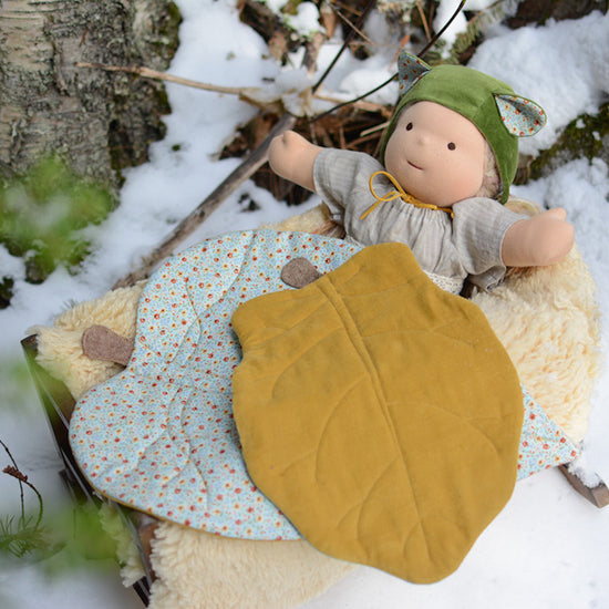 Doll Leaf Blanket - New Zealand leaves - PDF digital Sewing pattern by Twig + Tale