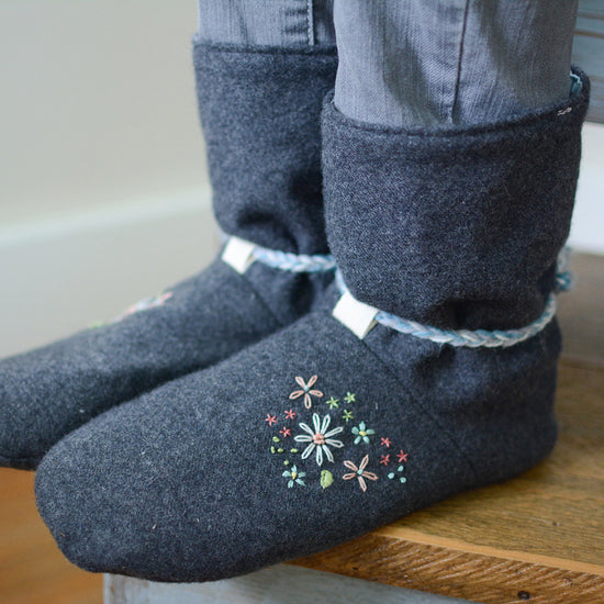Tie Back Boots - Adult sizes - PDF digital sewing pattern by Twig + Tale