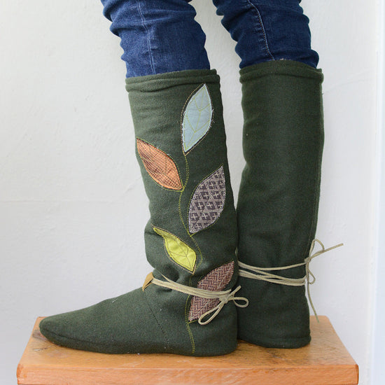 Tie Back Boots - Adult sizes - PDF digital sewing pattern by Twig + Tale  2