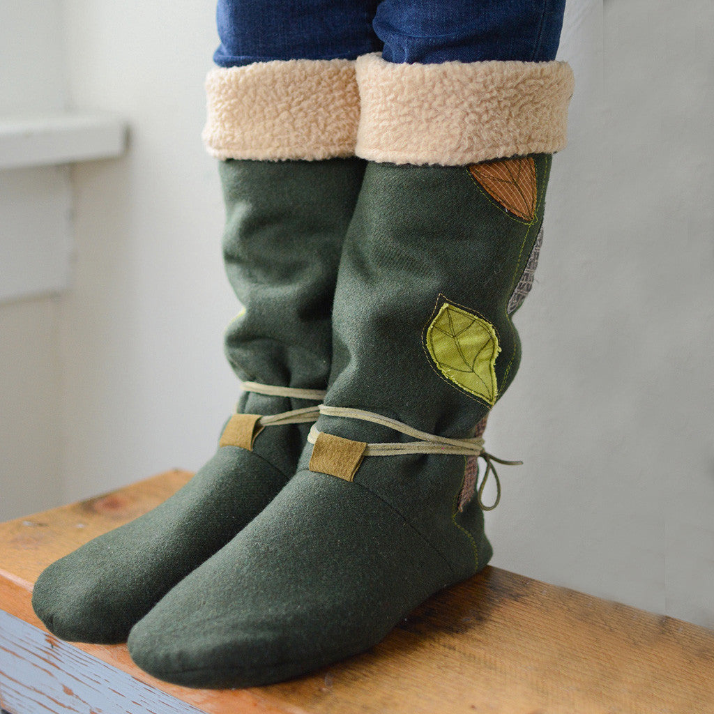 Tie Back Boots - Adult sizes - PDF digital sewing pattern by Twig + Tale  14